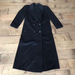 Brooks Brothers Lambswool Coat Long Navy